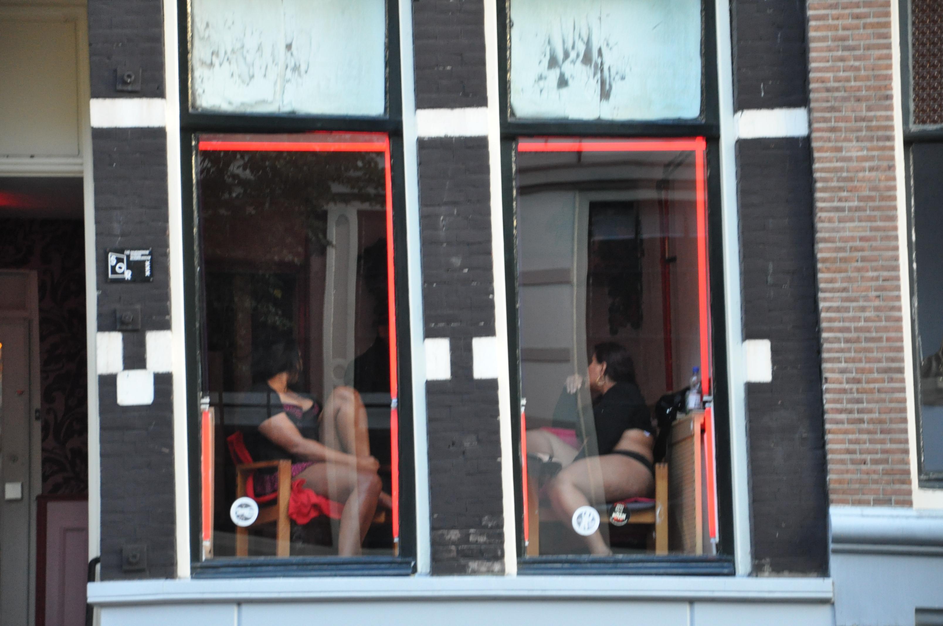 Teen girls in Amsterdam
